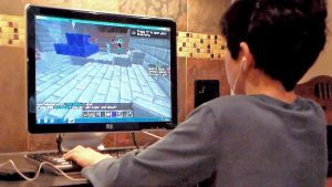 Kid Playing Minecraft